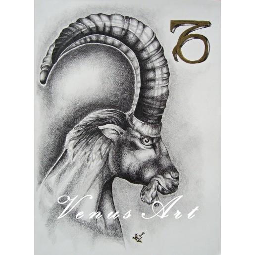 KOZOROH-znamení zvěrokruhu formát A3