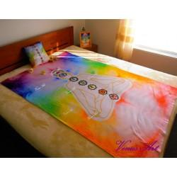 Fleecová deka /silná/ - Meditující postava