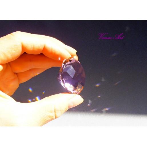 KŘIŠŤÁLOVÝ BRILIANT průměr 4 cm růžový