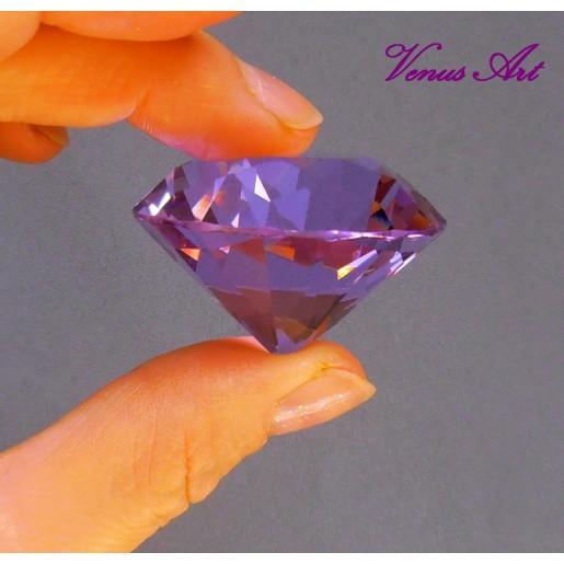 KŘIŠŤÁLOVÝ BRILIANT průměr 4 cm fialový