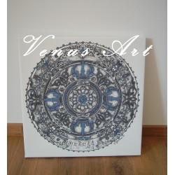 Mandala ÓM - malířské plátno