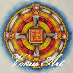 Indická Mandala - Vesmír /formát A3/