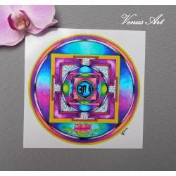 Magnetka - Mandala Lotosový květ
