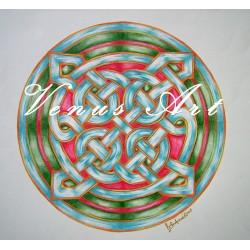 Keltská mandala - nekonečný uzel /formát A3/