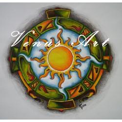 Sluneční mandala /formát A3/