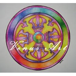 Buddhistická mandala - Vadžra /formát A3/