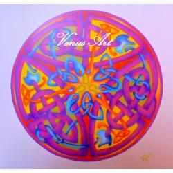 Keltská mandala - propletení hadi /formát A4/