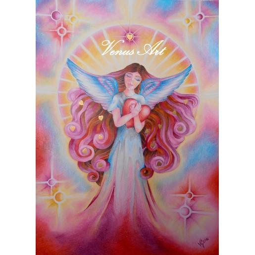 Andělský hrníček - Andílek se srdíčkem