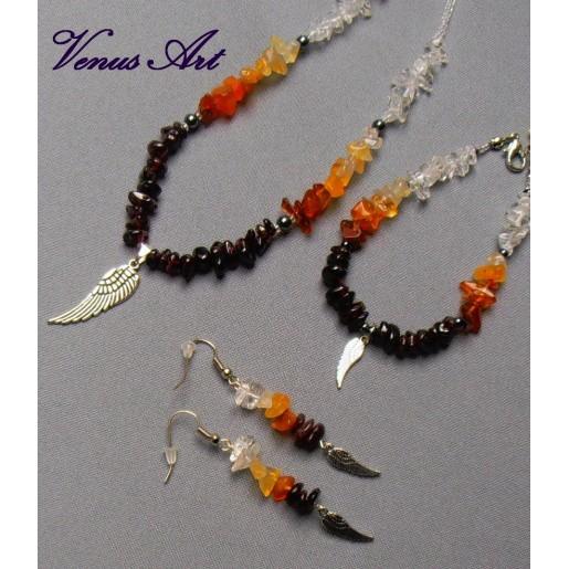 Andělské náušnice s minerály Archanděl URIEL