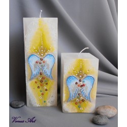 Malovaná svíčka HOJNOST hranol