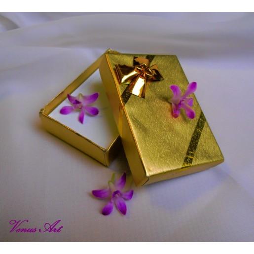 Dárková krabička - zlatá
