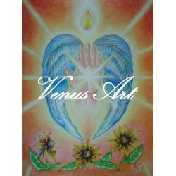 ARCHANDĚL URIEL - anděl světla,energie,moudrosti A3