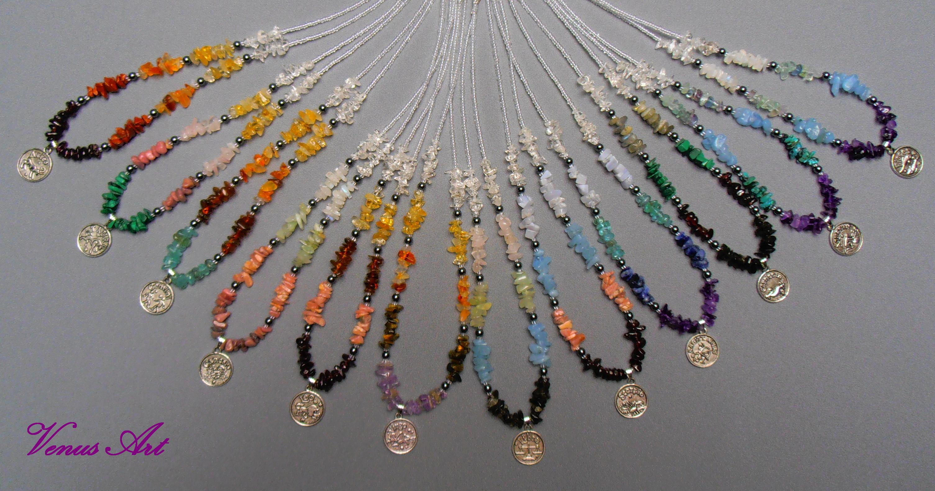 Série náhrdelníků pro 12 znamení